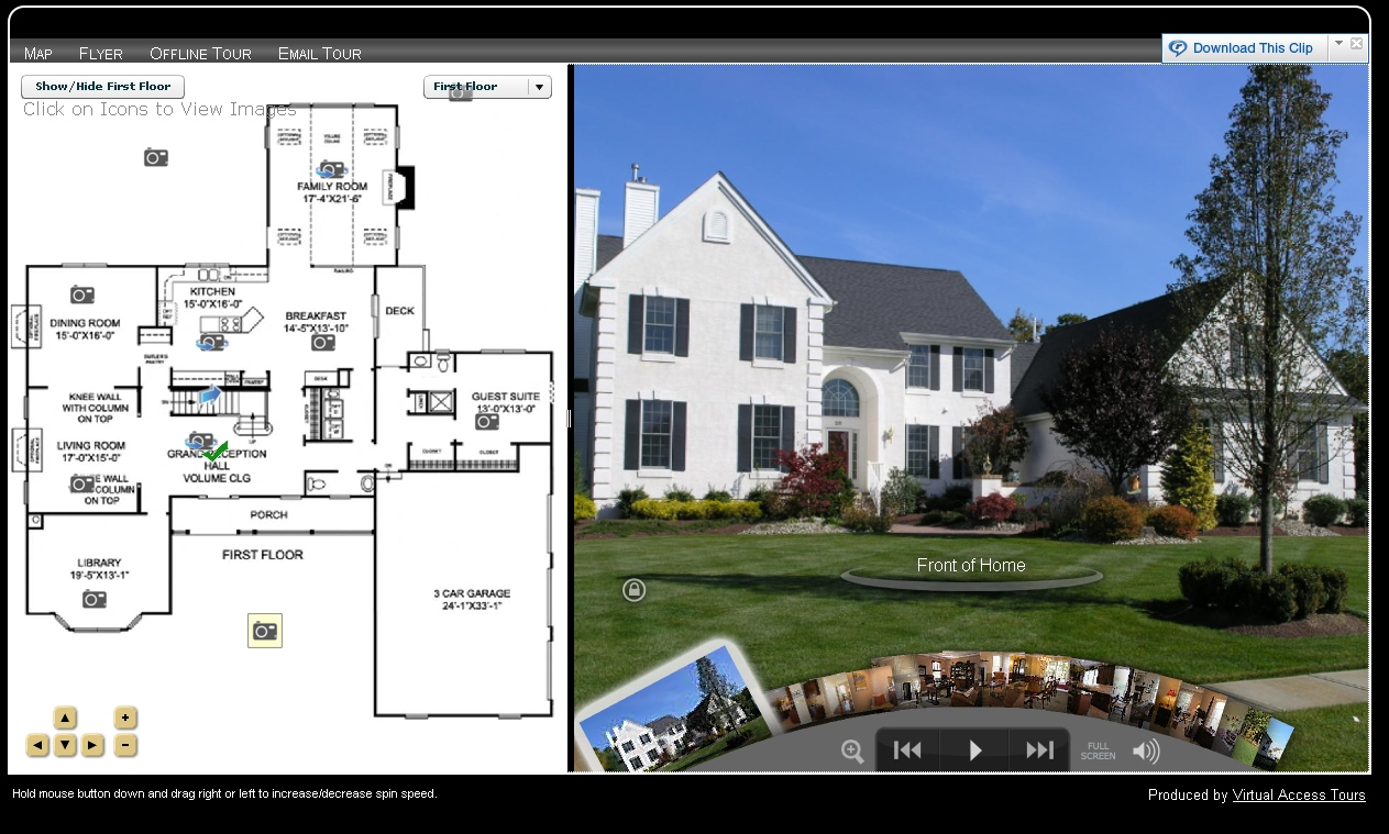 Click Here For A Sample Virtual Tour Including High Resolution 2D Floor Plan